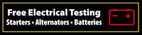 Free Electrical Testing: Starters, Alternators, Batteries