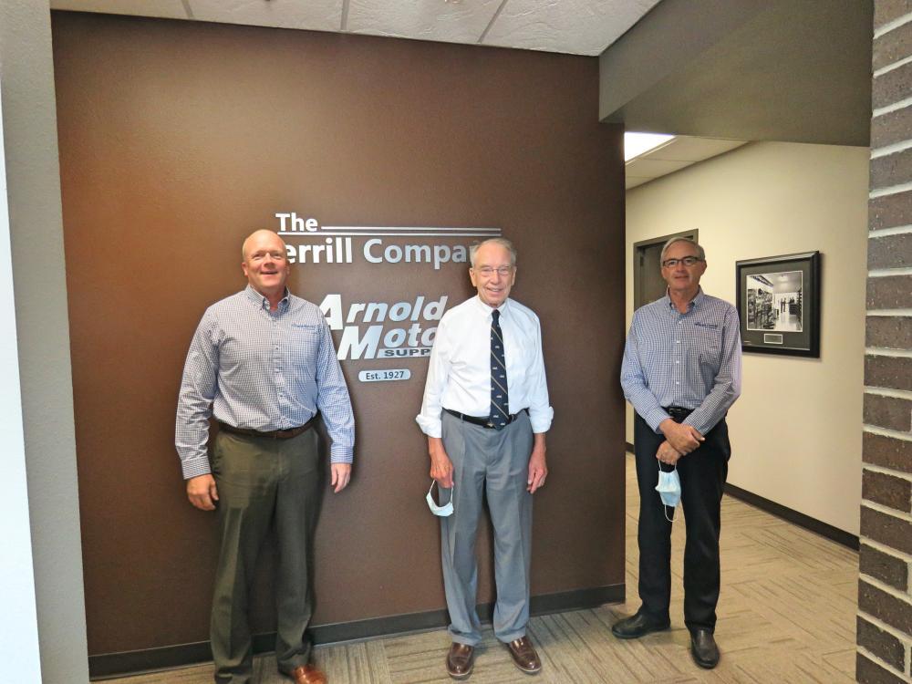 Arnold Motor Supply, Senator Grassley Visit